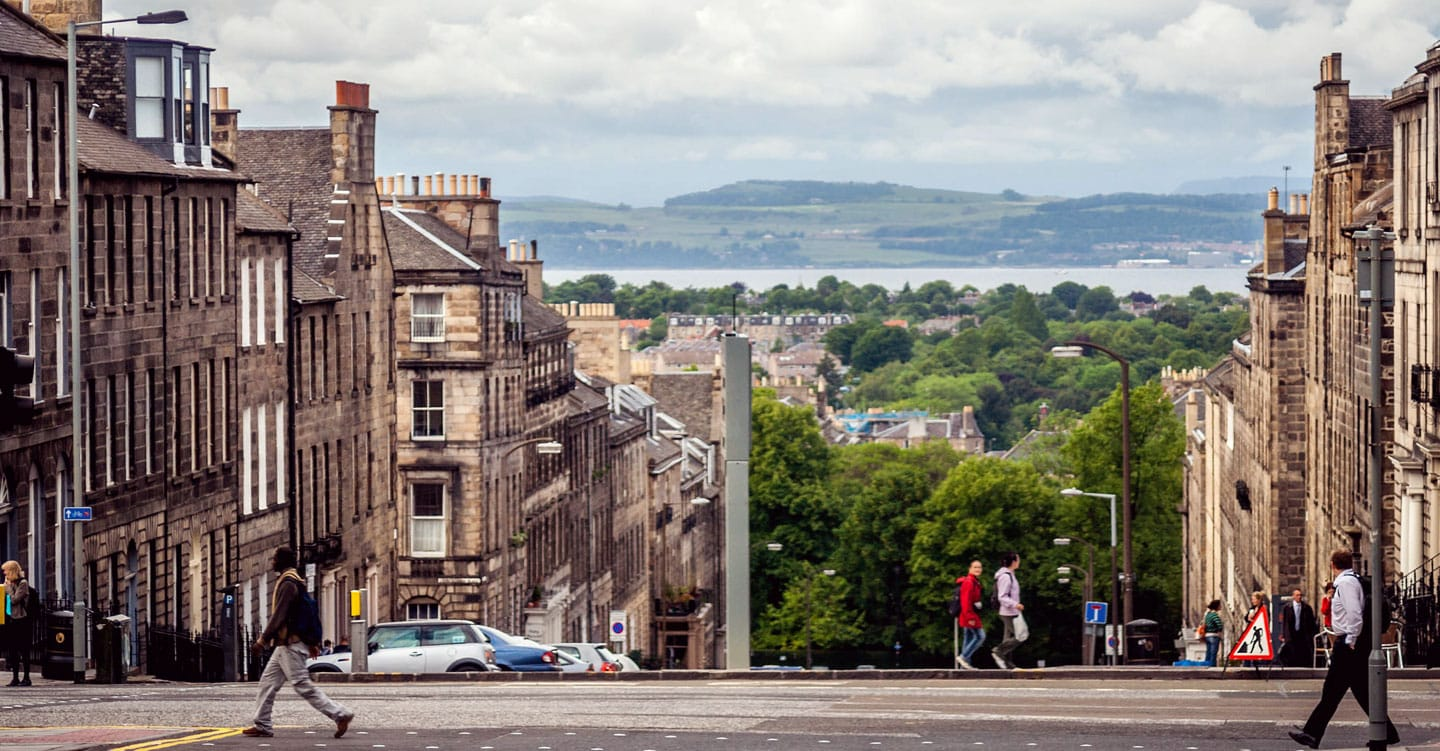 A view of Edinburgh out to Fife